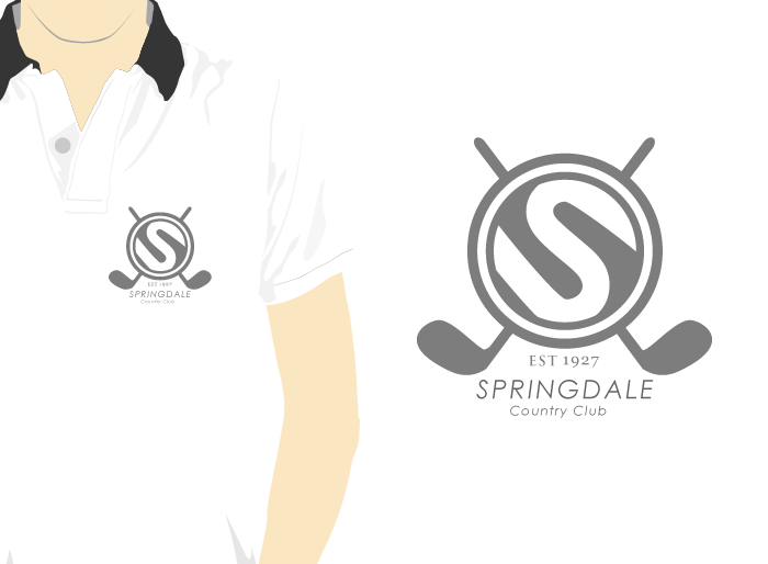 Logo Design by Jan Chua - Entry No. 2 in the Logo Design Contest Unique Logo Design Wanted for Springdale Country Club.