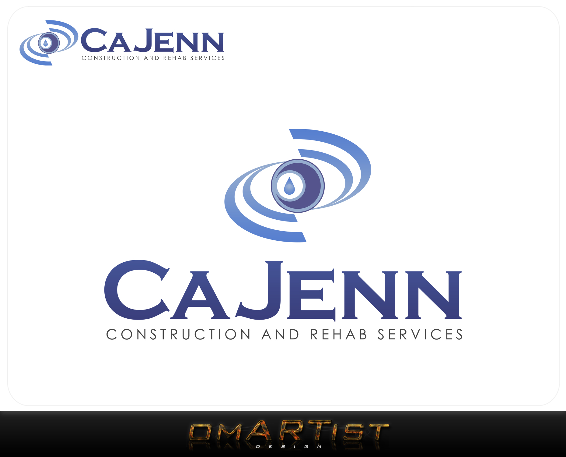 Logo Design by omARTist - Entry No. 203 in the Logo Design Contest New Logo Design for CaJenn Construction & Rehab Services.