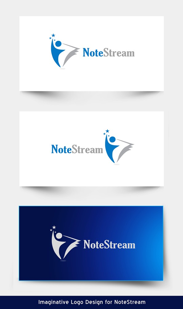 Logo Design by Respati Himawan - Entry No. 137 in the Logo Design Contest Imaginative Logo Design for NoteStream.