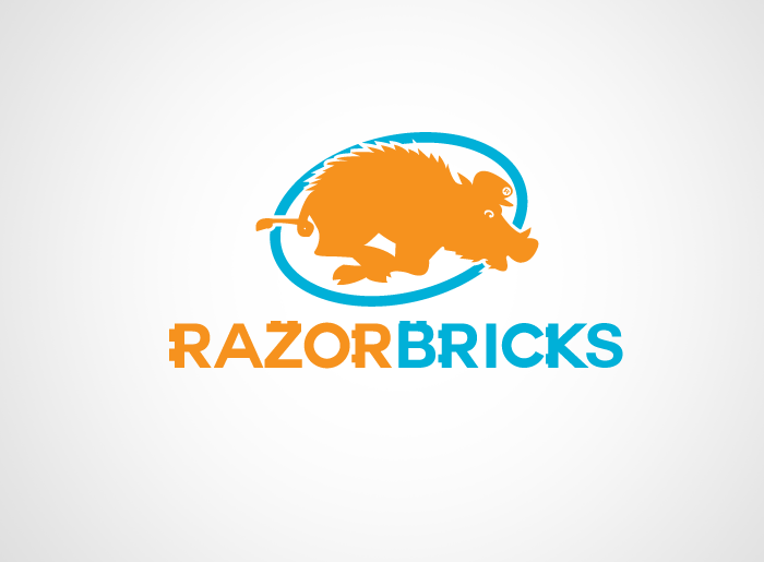 Logo Design by Jan Chua - Entry No. 9 in the Logo Design Contest Unique Logo Design Wanted for razorbricks.com.