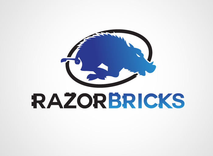 Logo Design by Jan Chua - Entry No. 10 in the Logo Design Contest Unique Logo Design Wanted for razorbricks.com.