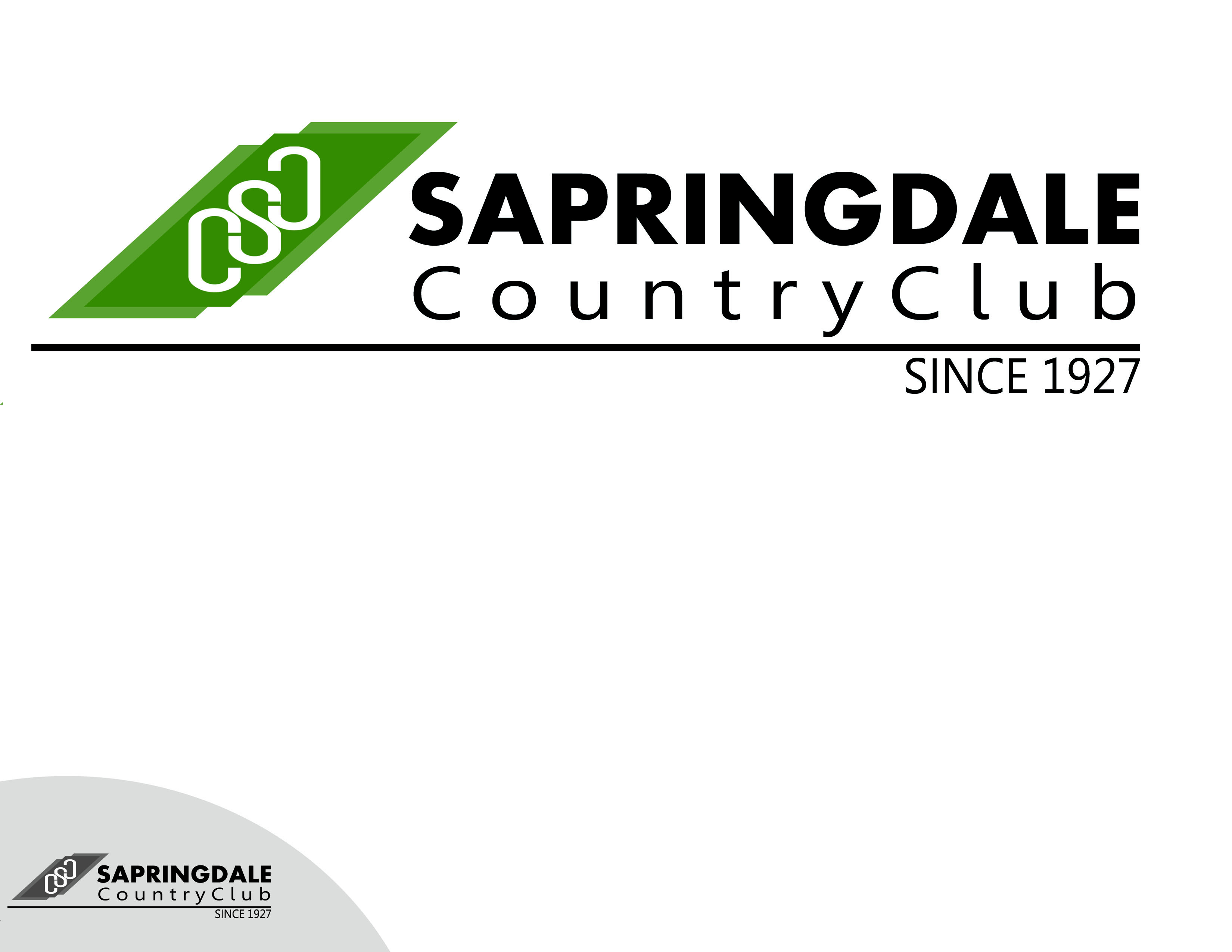 Logo Design by Alan Esclamado - Entry No. 11 in the Logo Design Contest Unique Logo Design Wanted for Springdale Country Club.
