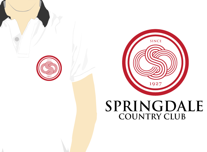 Logo Design by Jan Chua - Entry No. 12 in the Logo Design Contest Unique Logo Design Wanted for Springdale Country Club.