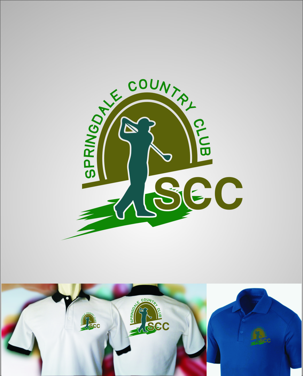 Logo Design by RoSyid Rono-Rene On Java - Entry No. 13 in the Logo Design Contest Unique Logo Design Wanted for Springdale Country Club.