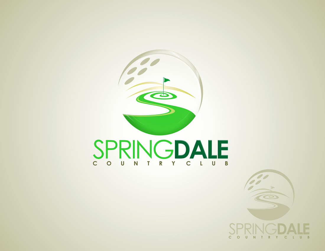 Logo Design by Private User - Entry No. 15 in the Logo Design Contest Unique Logo Design Wanted for Springdale Country Club.