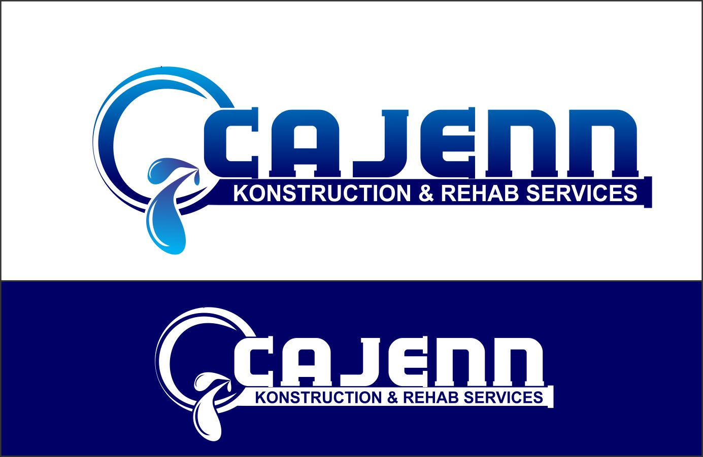 Logo Design by Agus Martoyo - Entry No. 229 in the Logo Design Contest New Logo Design for CaJenn Construction & Rehab Services.