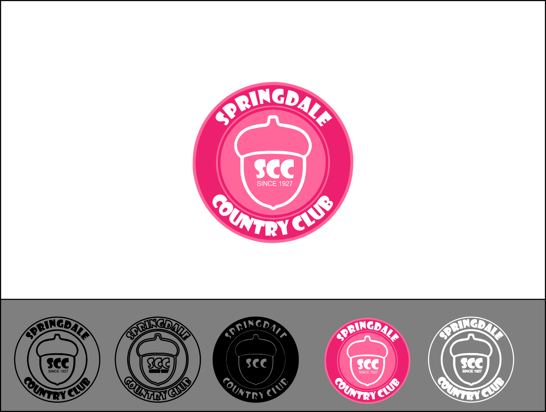 Logo Design by Agus Martoyo - Entry No. 16 in the Logo Design Contest Unique Logo Design Wanted for Springdale Country Club.