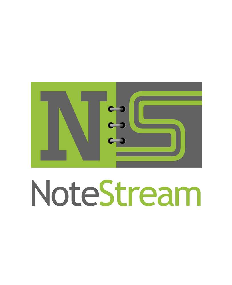 Logo Design by Robert Turla - Entry No. 183 in the Logo Design Contest Imaginative Logo Design for NoteStream.