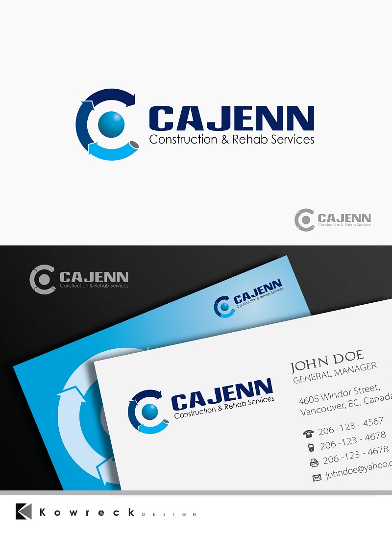 Logo Design by kowreck - Entry No. 256 in the Logo Design Contest New Logo Design for CaJenn Construction & Rehab Services.