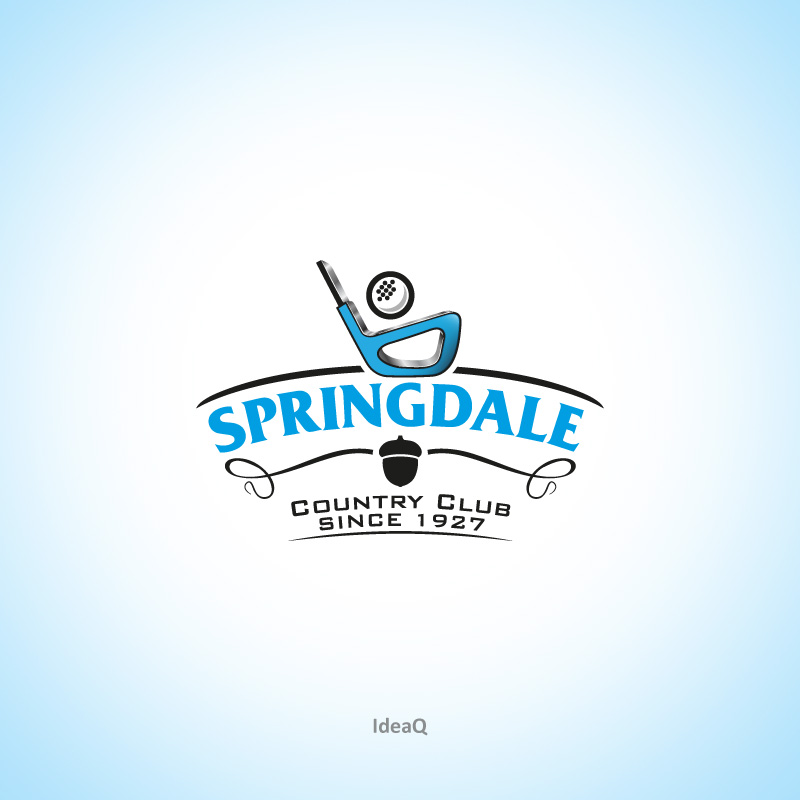 Logo Design by Private User - Entry No. 20 in the Logo Design Contest Unique Logo Design Wanted for Springdale Country Club.