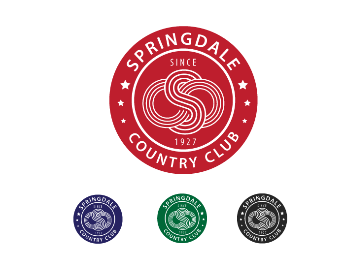 Logo Design by Jan Chua - Entry No. 22 in the Logo Design Contest Unique Logo Design Wanted for Springdale Country Club.