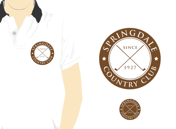 Logo Design by Jan Chua - Entry No. 26 in the Logo Design Contest Unique Logo Design Wanted for Springdale Country Club.