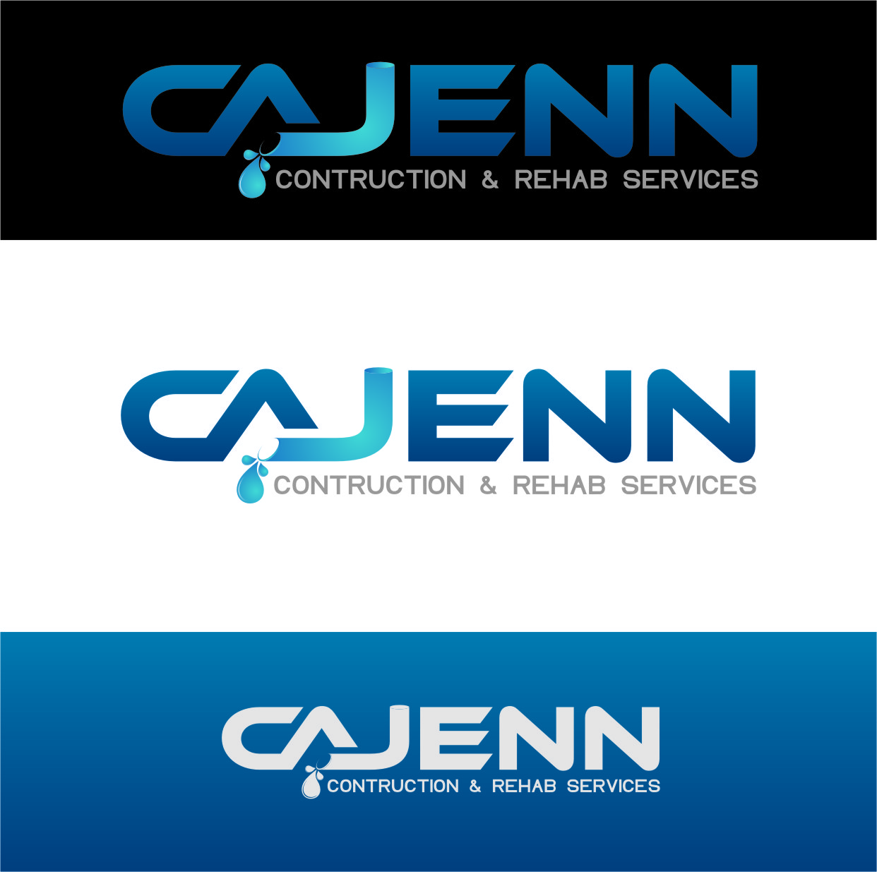 Logo Design by RasYa Muhammad Athaya - Entry No. 264 in the Logo Design Contest New Logo Design for CaJenn Construction & Rehab Services.