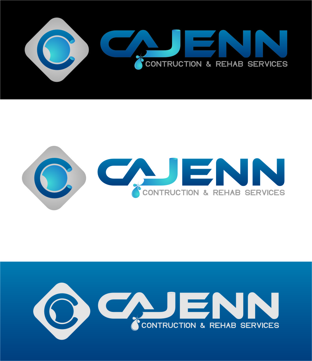 Logo Design by RasYa Muhammad Athaya - Entry No. 265 in the Logo Design Contest New Logo Design for CaJenn Construction & Rehab Services.