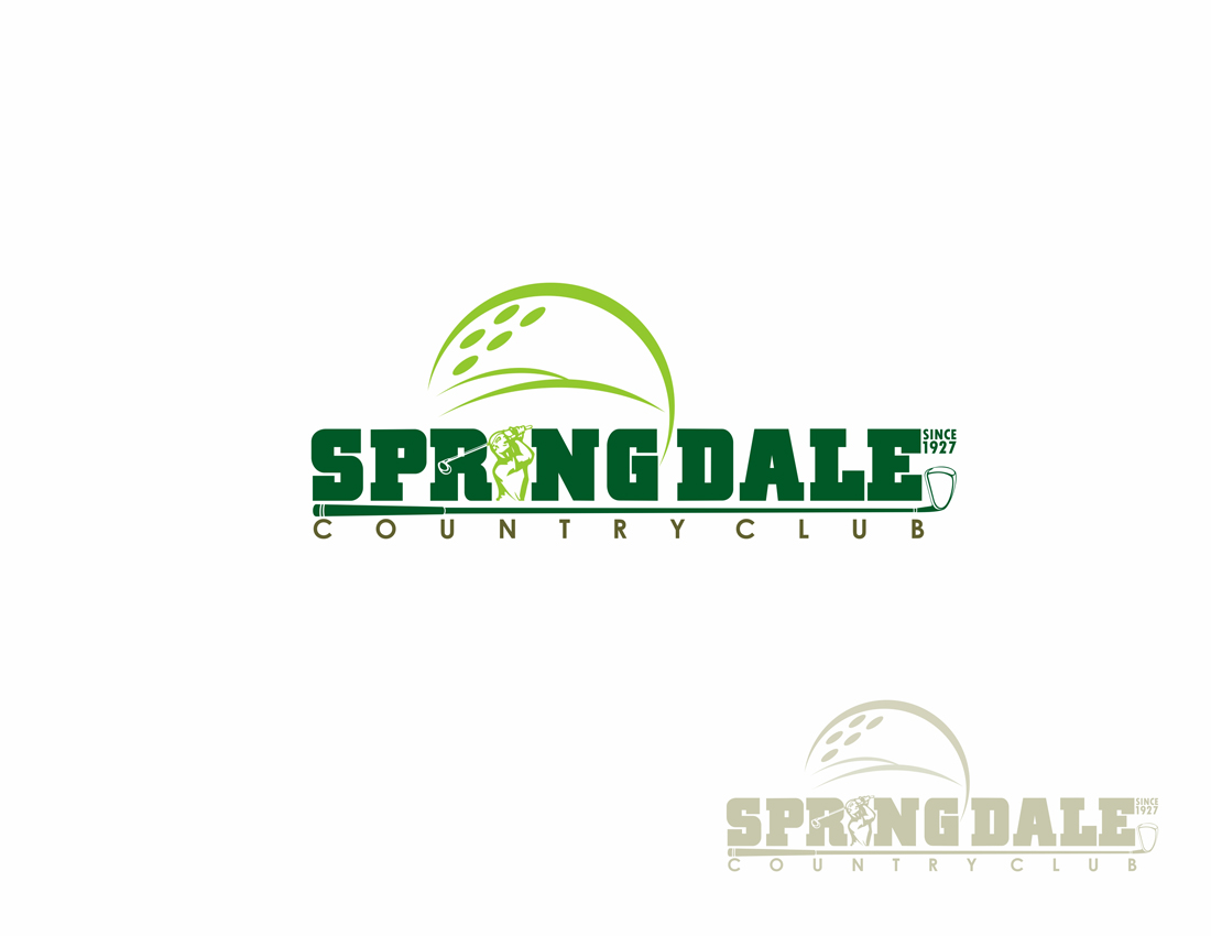 Logo Design by Private User - Entry No. 28 in the Logo Design Contest Unique Logo Design Wanted for Springdale Country Club.