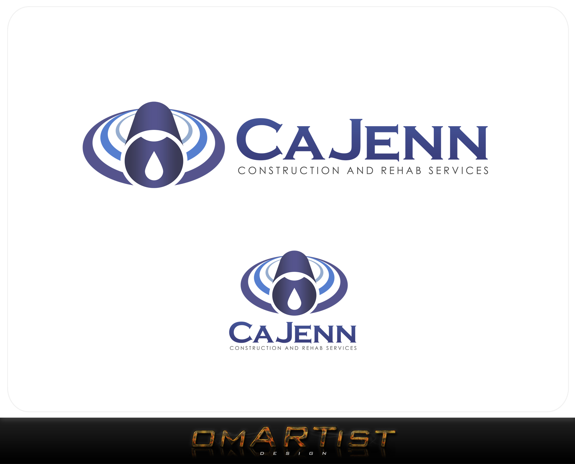 Logo Design by omARTist - Entry No. 285 in the Logo Design Contest New Logo Design for CaJenn Construction & Rehab Services.