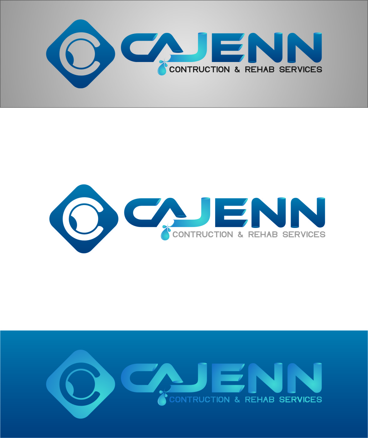 Logo Design by RasYa Muhammad Athaya - Entry No. 299 in the Logo Design Contest New Logo Design for CaJenn Construction & Rehab Services.