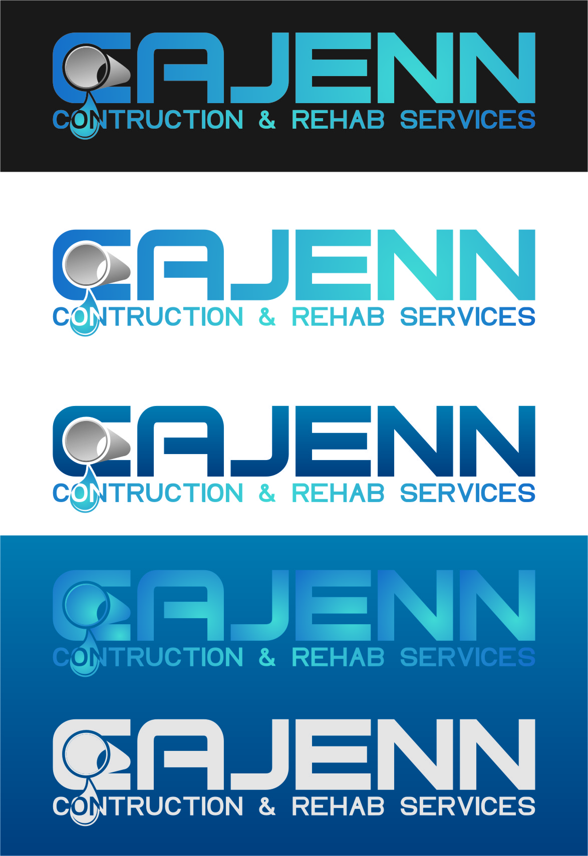 Logo Design by Ngepet_art - Entry No. 300 in the Logo Design Contest New Logo Design for CaJenn Construction & Rehab Services.