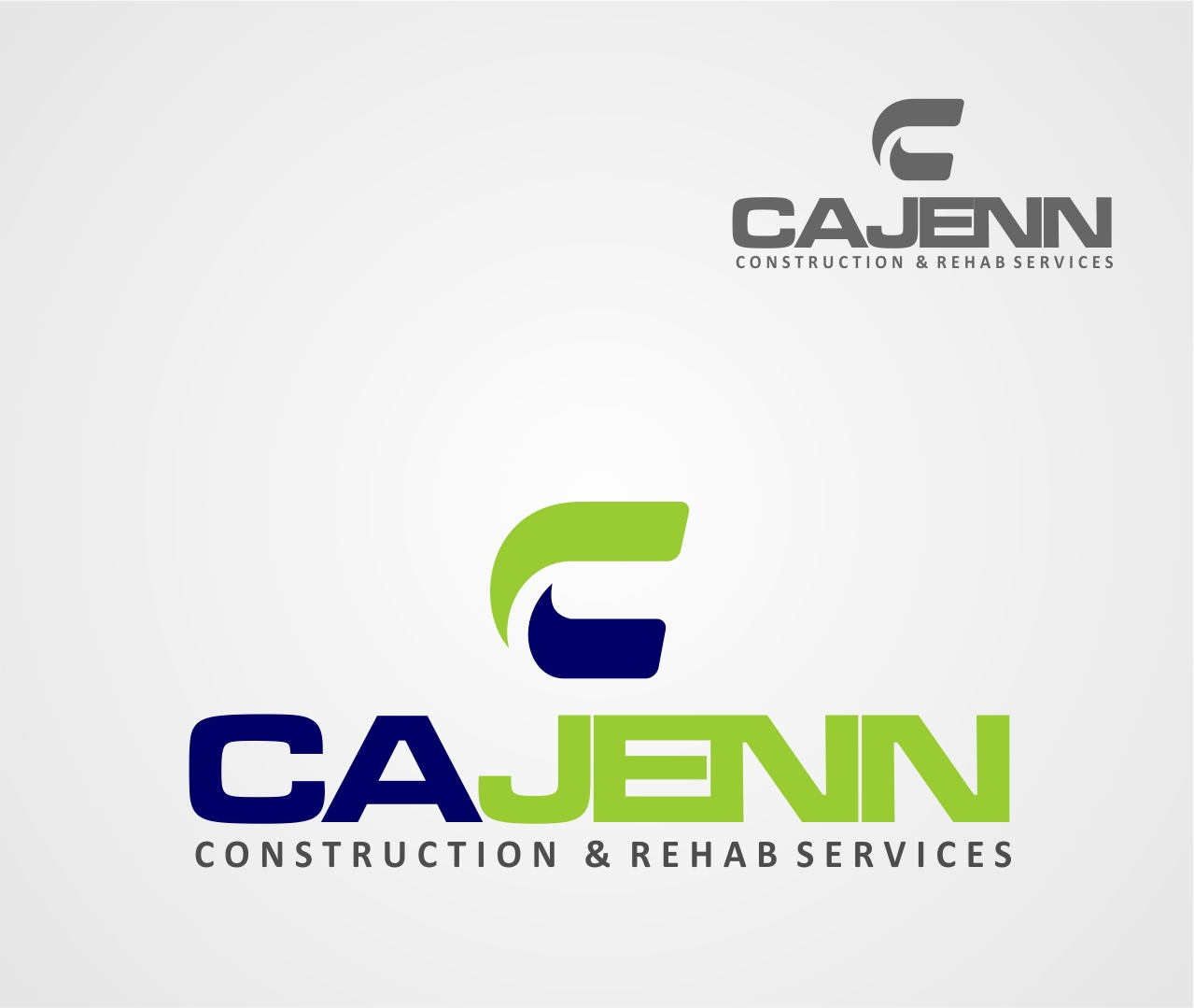 Logo Design by Reivan Ferdinan - Entry No. 319 in the Logo Design Contest New Logo Design for CaJenn Construction & Rehab Services.