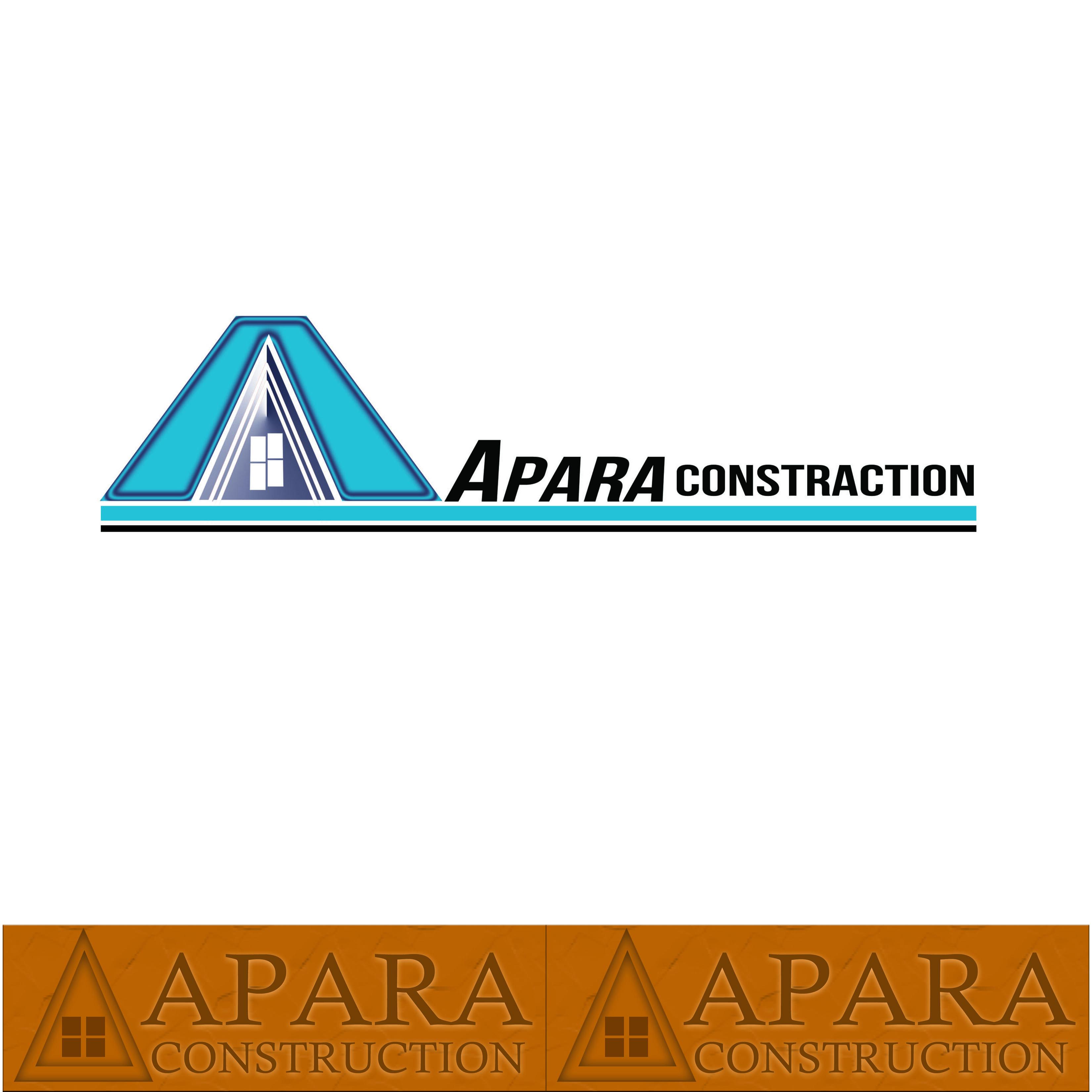 Logo Design by Alan Esclamado - Entry No. 15 in the Logo Design Contest Apara Construction Logo Design.