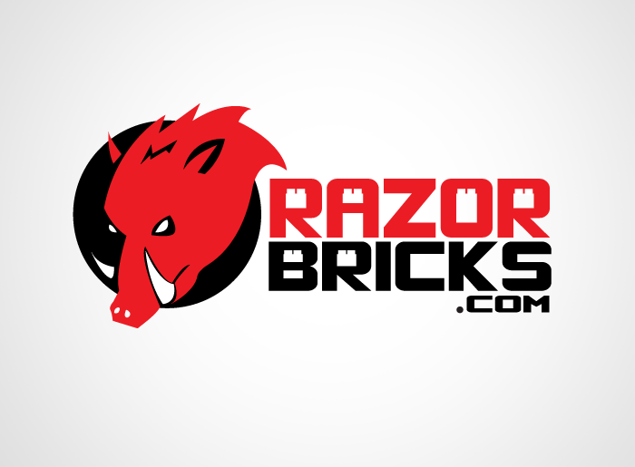 Logo Design by Jan Chua - Entry No. 29 in the Logo Design Contest Unique Logo Design Wanted for razorbricks.com.