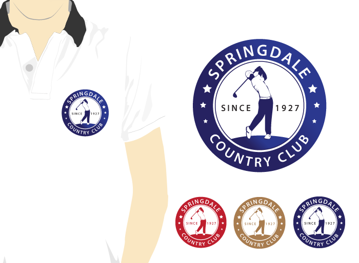 Logo Design by Jan Chua - Entry No. 47 in the Logo Design Contest Unique Logo Design Wanted for Springdale Country Club.