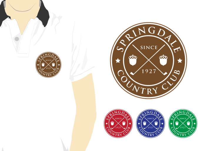 Logo Design by Jan Chua - Entry No. 48 in the Logo Design Contest Unique Logo Design Wanted for Springdale Country Club.