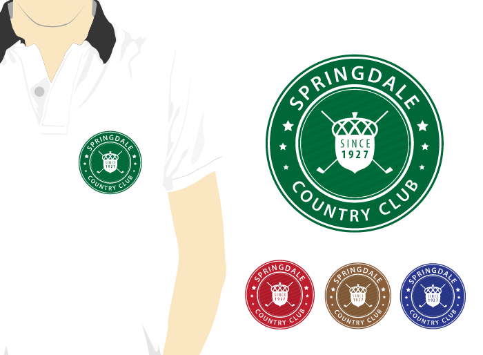 Logo Design by Jan Chua - Entry No. 49 in the Logo Design Contest Unique Logo Design Wanted for Springdale Country Club.