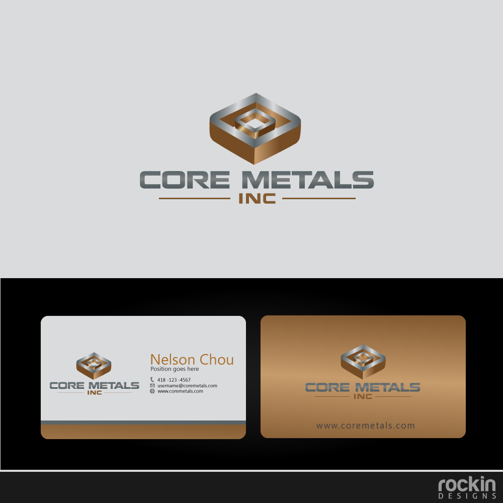 Logo Design by rockin - Entry No. 8 in the Logo Design Contest New Logo Design for Core Metals Inc.