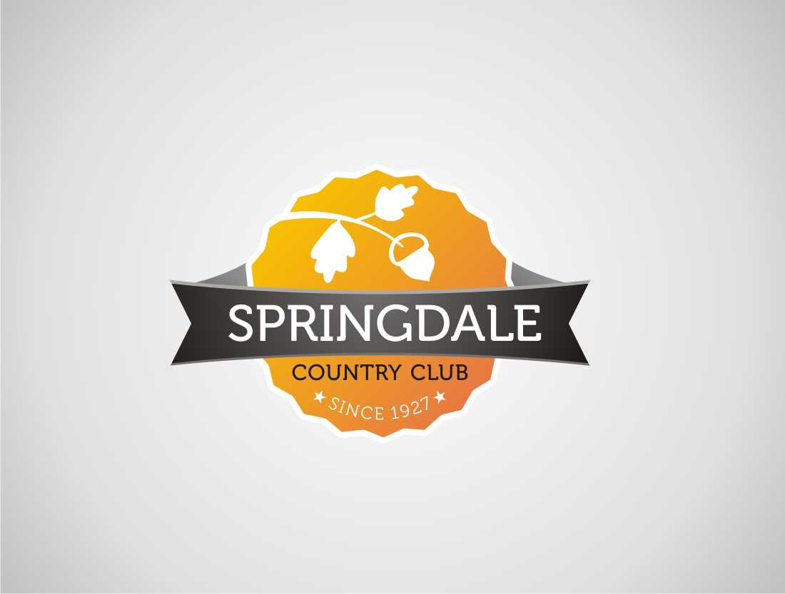 Logo Design by mungom - Entry No. 50 in the Logo Design Contest Unique Logo Design Wanted for Springdale Country Club.