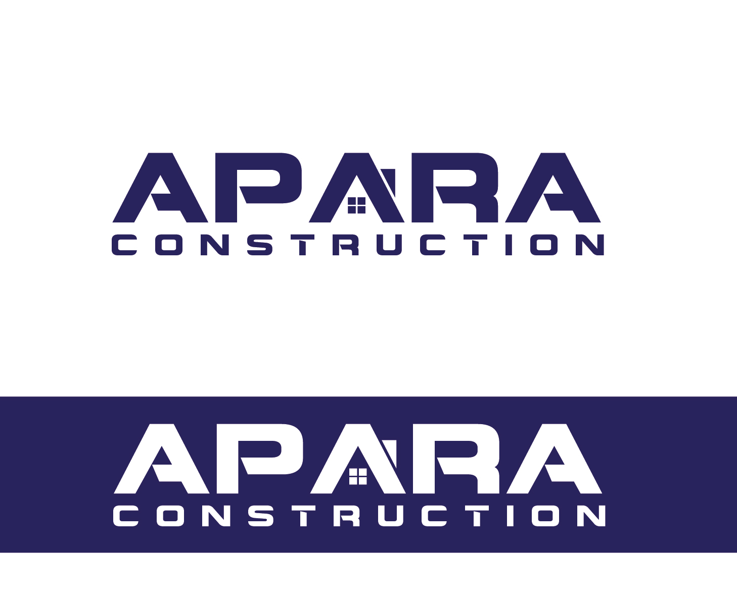 Logo Design by VENTSISLAV KOVACHEV - Entry No. 18 in the Logo Design Contest Apara Construction Logo Design.