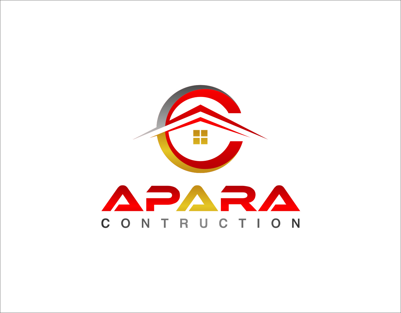 Logo Design by RasYa Muhammad Athaya - Entry No. 21 in the Logo Design Contest Apara Construction Logo Design.