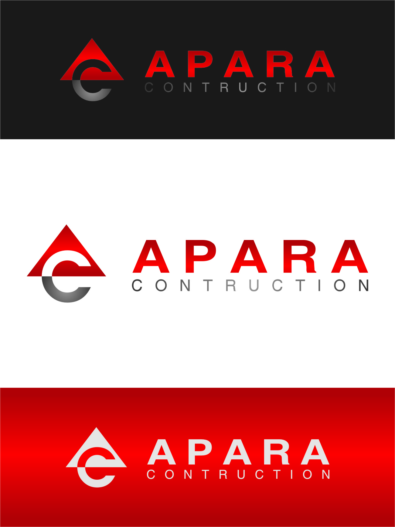 Logo Design by RasYa Muhammad Athaya - Entry No. 22 in the Logo Design Contest Apara Construction Logo Design.