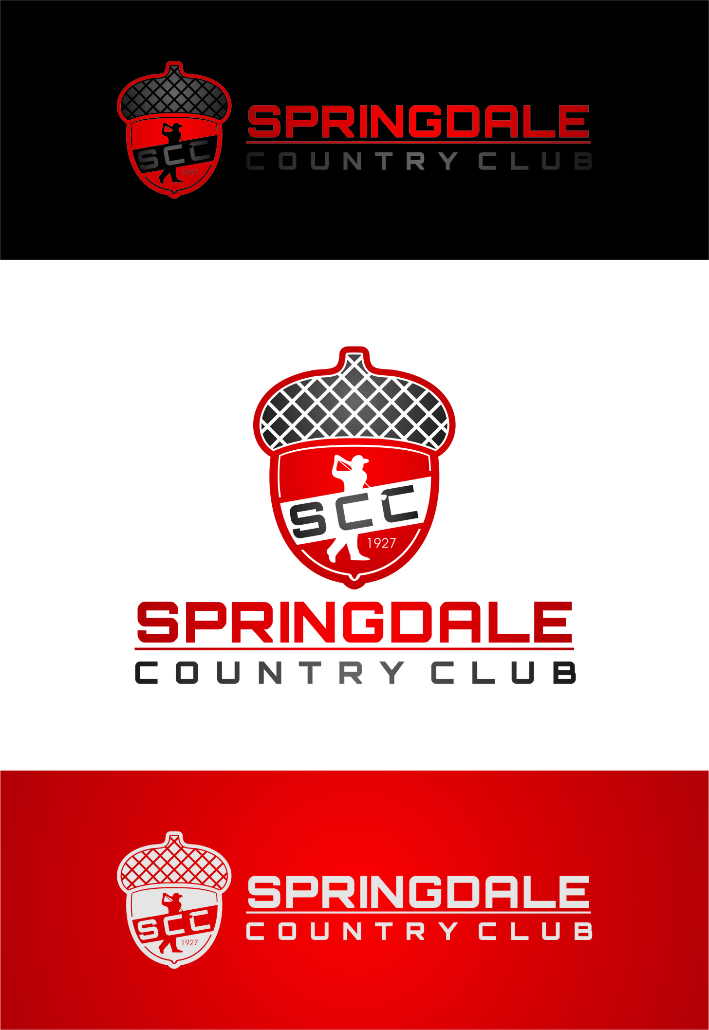 Logo Design by RasYa Muhammad Athaya - Entry No. 58 in the Logo Design Contest Unique Logo Design Wanted for Springdale Country Club.