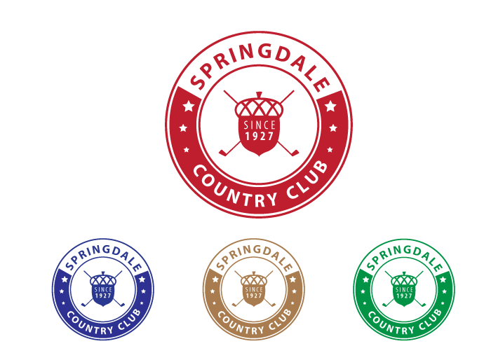 Logo Design by Jan Chua - Entry No. 59 in the Logo Design Contest Unique Logo Design Wanted for Springdale Country Club.