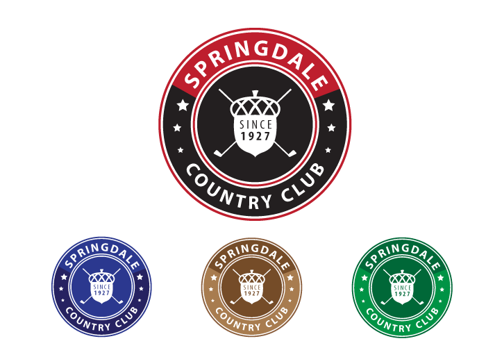 Logo Design by Jan Chua - Entry No. 60 in the Logo Design Contest Unique Logo Design Wanted for Springdale Country Club.