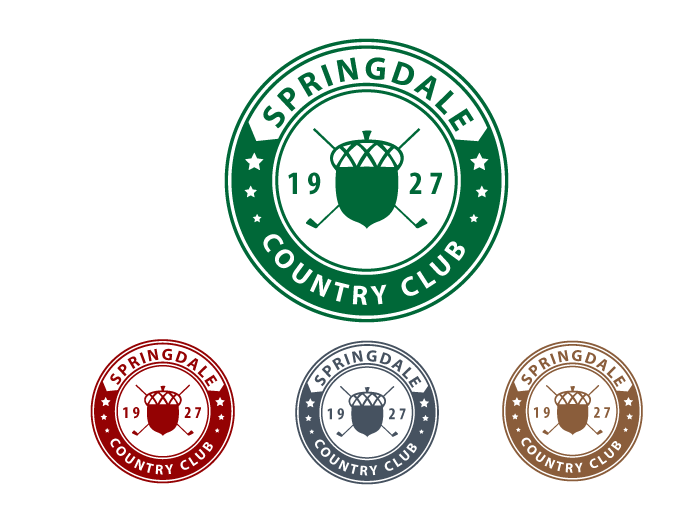 Logo Design by Jan Chua - Entry No. 61 in the Logo Design Contest Unique Logo Design Wanted for Springdale Country Club.