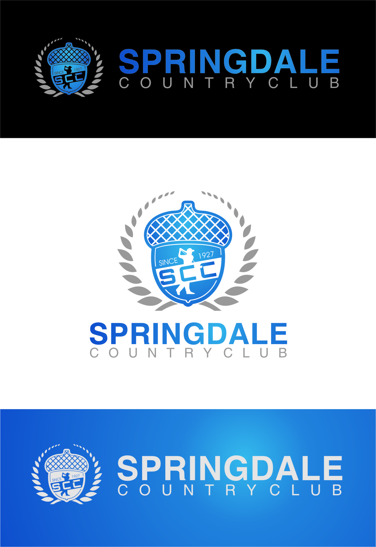 Logo Design by RasYa Muhammad Athaya - Entry No. 64 in the Logo Design Contest Unique Logo Design Wanted for Springdale Country Club.
