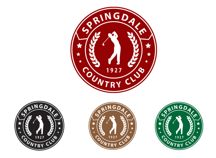 Logo Design by Jan Chua - Entry No. 70 in the Logo Design Contest Unique Logo Design Wanted for Springdale Country Club.