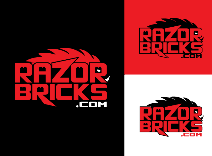 Logo Design by Jan Chua - Entry No. 45 in the Logo Design Contest Unique Logo Design Wanted for razorbricks.com.