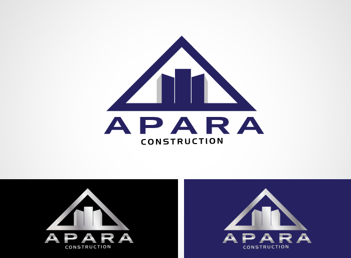 Logo Design by Jan Chua - Entry No. 24 in the Logo Design Contest Apara Construction Logo Design.