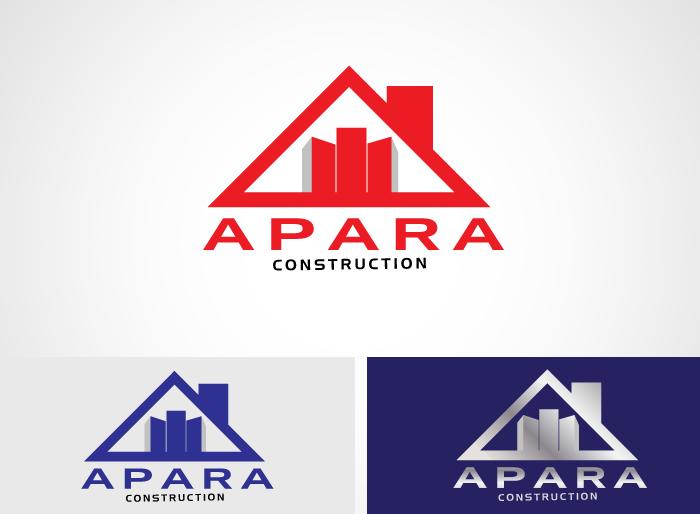 Logo Design by Jan Chua - Entry No. 25 in the Logo Design Contest Apara Construction Logo Design.