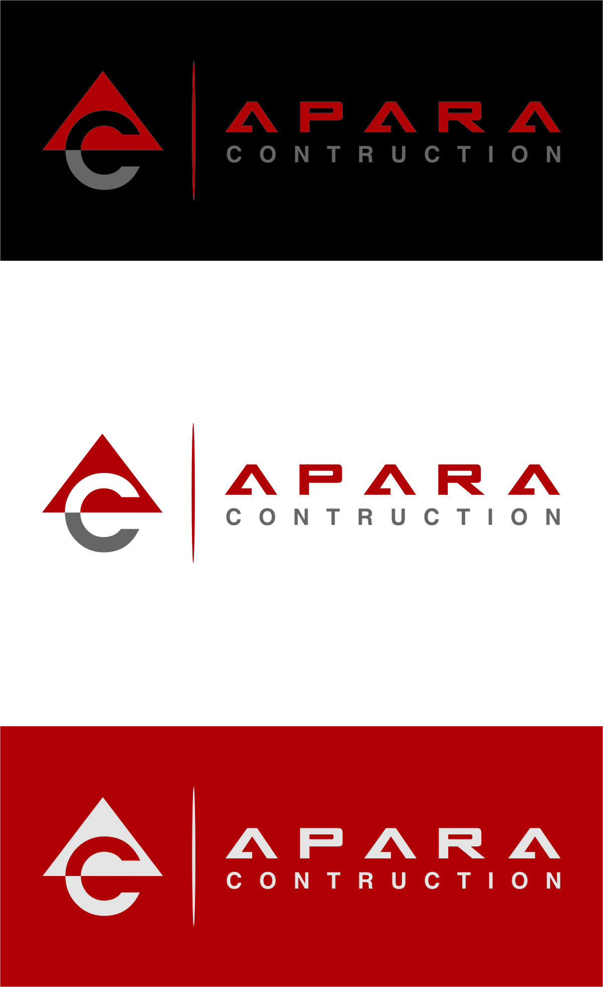 Logo Design by Ngepet_art - Entry No. 28 in the Logo Design Contest Apara Construction Logo Design.
