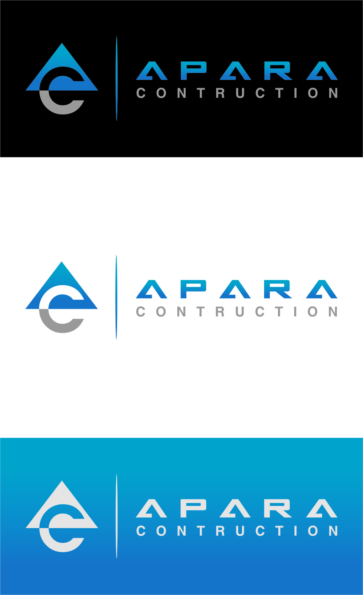 Logo Design by RoSyid Rono-Rene On Java - Entry No. 29 in the Logo Design Contest Apara Construction Logo Design.