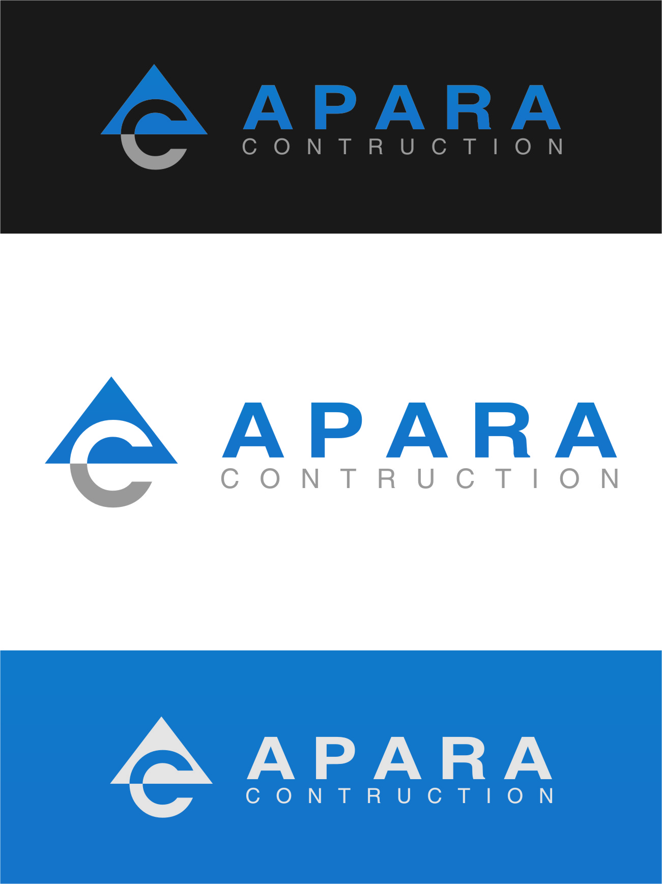 Logo Design by Ngepet_art - Entry No. 30 in the Logo Design Contest Apara Construction Logo Design.