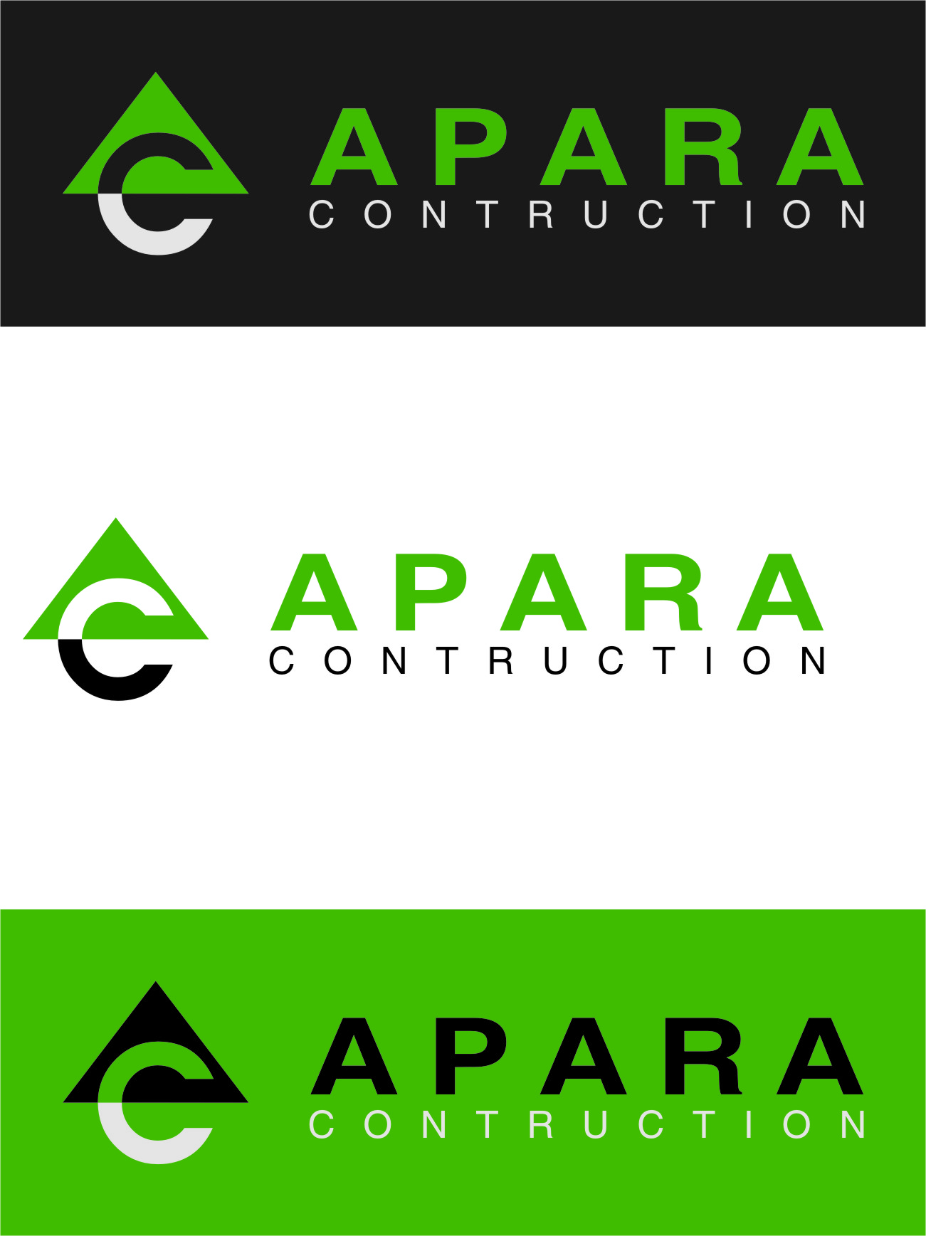 Logo Design by Ngepet_art - Entry No. 31 in the Logo Design Contest Apara Construction Logo Design.