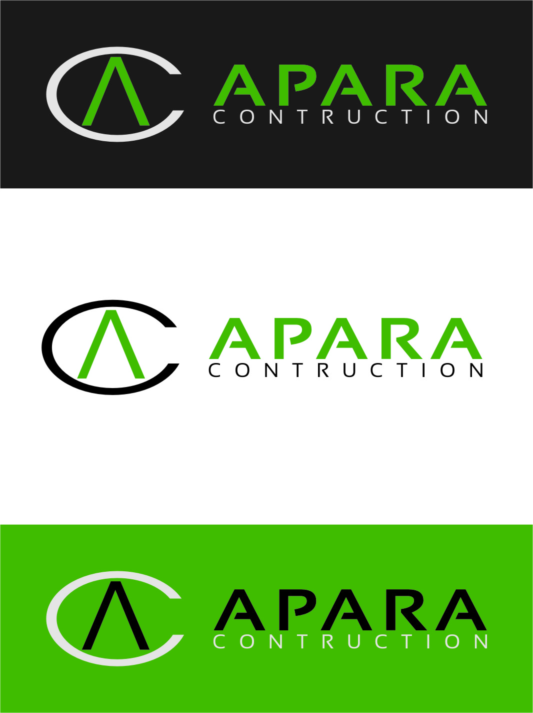 Logo Design by RasYa Muhammad Athaya - Entry No. 33 in the Logo Design Contest Apara Construction Logo Design.