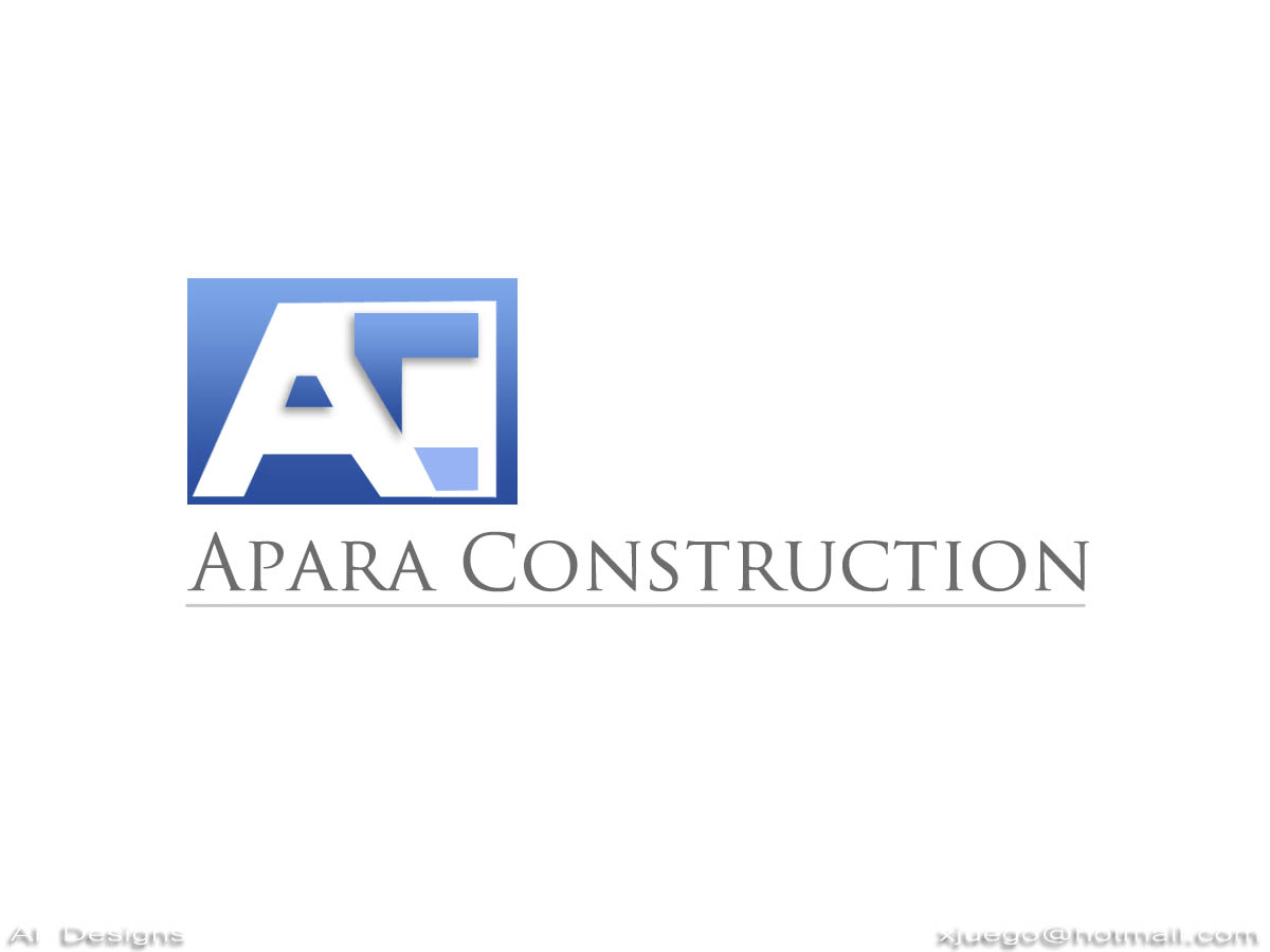 Logo Design by Al Castillo - Entry No. 34 in the Logo Design Contest Apara Construction Logo Design.