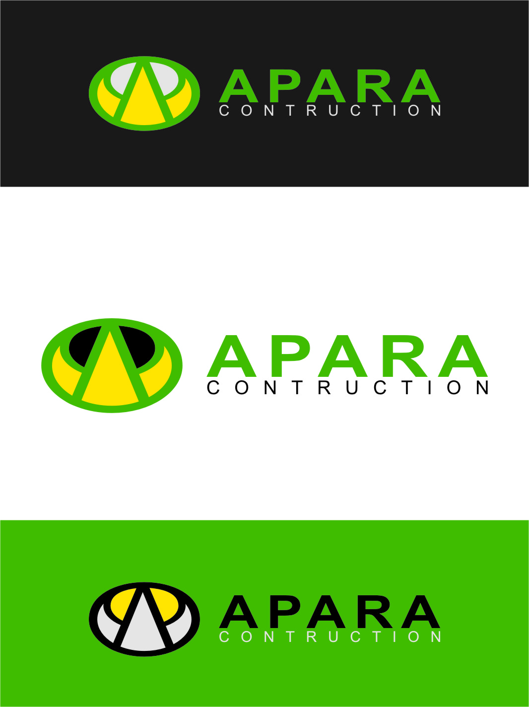 Logo Design by Ngepet_art - Entry No. 35 in the Logo Design Contest Apara Construction Logo Design.