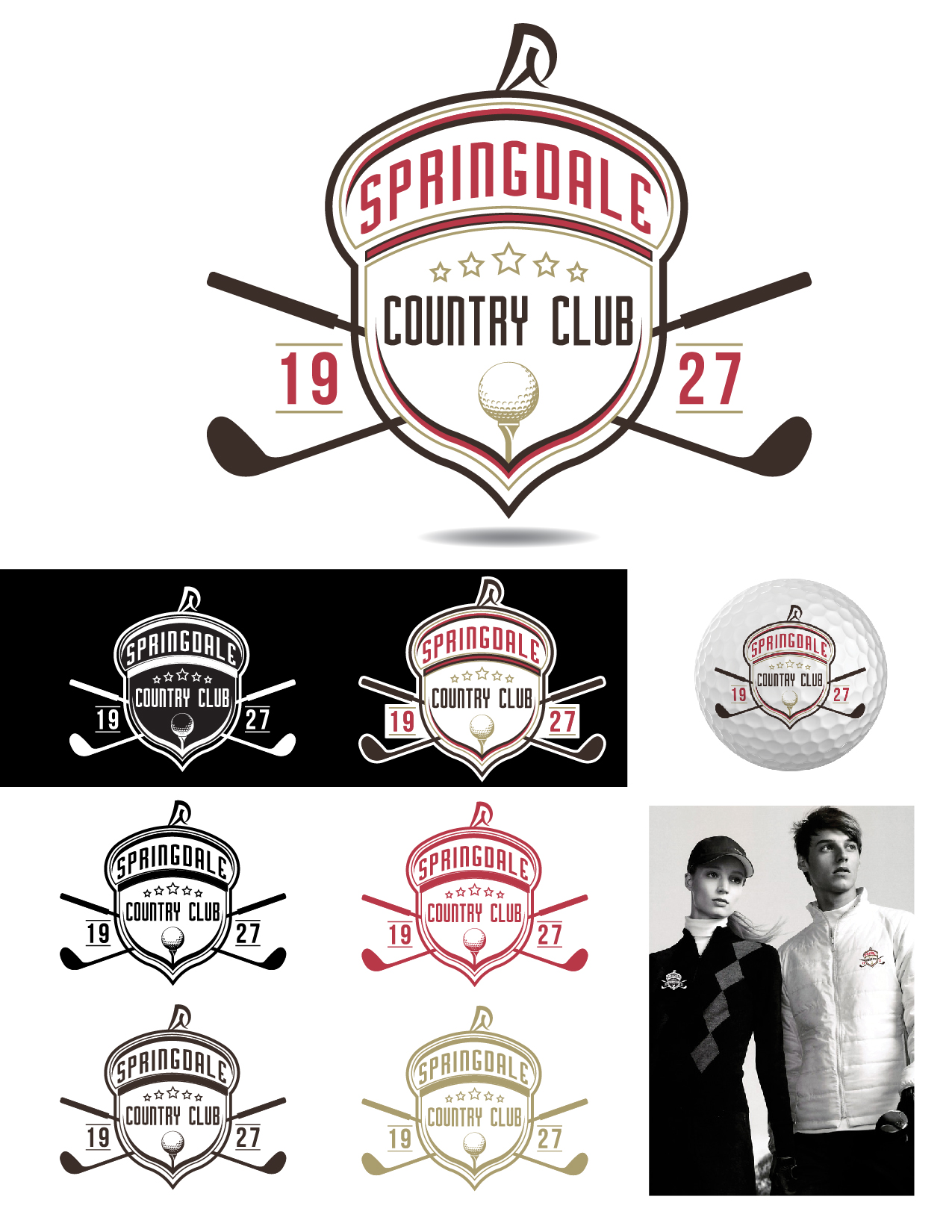 Logo Design by Jesus P Quiroga - Entry No. 82 in the Logo Design Contest Unique Logo Design Wanted for Springdale Country Club.
